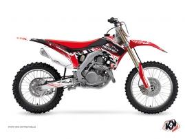 Honda 450 CRF Dirt Bike Eraser Graphic Kit Red White