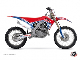 Honda 450 CRF Dirt Bike Eraser Graphic Kit Red Blue