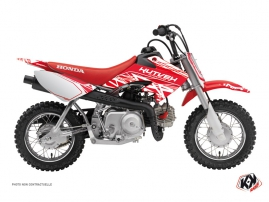 Honda 50 CRF Dirt Bike Eraser Graphic Kit White Red