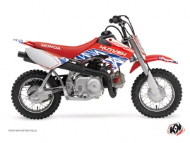 Honda 50 CRF Dirt Bike Eraser Graphic Kit Red Blue