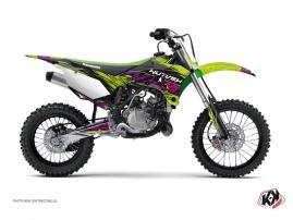 Kawasaki 85 KX Dirt Bike Eraser Graphic Kit Green