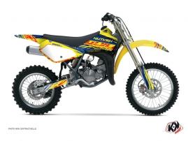 Suzuki 85 RM Dirt Bike Eraser Graphic Kit Blue Yellow