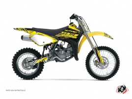 Suzuki 85 RM Dirt Bike Eraser Graphic Kit Yellow Black