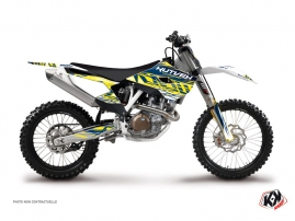 Husqvarna FC 450 Dirt Bike Eraser Graphic Kit Yellow Blue