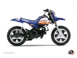 Yamaha PW 50 Dirt Bike Eraser Graphic Kit Blue Orange