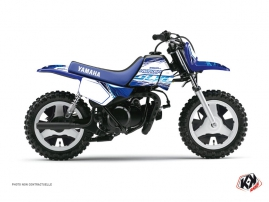 Kit Déco Moto Cross Eraser Yamaha PW 50 Bleu