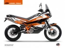 Kit Déco Moto Eskap KTM 990 Adventure Orange Blanc