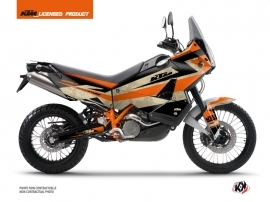 KTM 990 Adventure Street Bike Eskap Graphic Kit Orange Sand