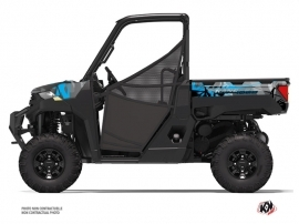 Polaris Ranger 1000 UTV Evil Graphic Kit Grey Blue