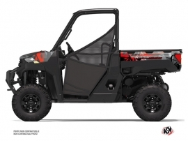 Polaris Ranger 1000 UTV Evil Graphic Kit Grey Red