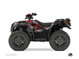 Kit Déco Quad Evil Polaris 1000 Sportsman XP Forest Gris Rouge