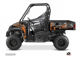 Polaris Ranger 570 FULL UTV Evil Graphic Kit Grey Orange
