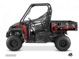 Polaris Ranger 570 FULL UTV Evil Graphic Kit Grey Red