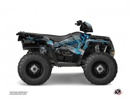 Polaris 570 Sportsman Forest ATV Evil Graphic Kit Grey Blue