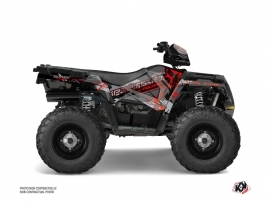 Polaris 570 Sportsman Forest ATV Evil Graphic Kit Grey Red