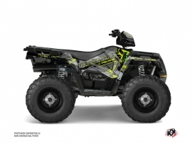 Polaris 570 Sportsman Touring ATV Evil Graphic Kit Grey Green