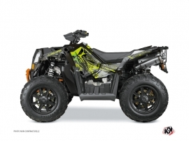 Kit Déco Quad Evil Polaris Scrambler 850-1000 XP Gris Vert FULL