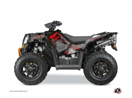 Kit Déco Quad Evil Polaris Scrambler 850-1000 XP Gris Rouge