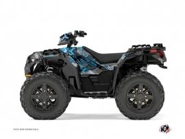 Polaris 850 Sportsman Forest ATV Evil Graphic Kit Grey Blue