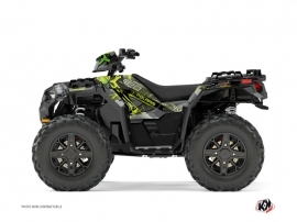 Polaris 850 Sportsman Forest ATV Evil Graphic Kit Grey Green