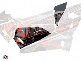 Graphic Kit Doors Origin Low Evil UTV Polaris RZR 1000 2015-2019 Grey Orange