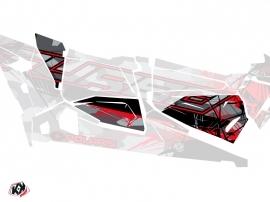 Graphic Kit Doors Origin Low Evil UTV Polaris RZR 1000 Turbo 4 Seater 2015-2019 Grey Red