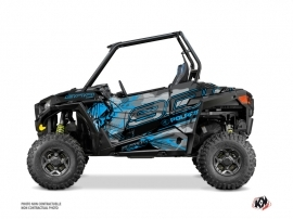 Graphic Kit Doors Origin Low Evil UTV Polaris RZR 900S 2015-2019 Grey Blue