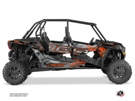 Kit Déco SSV Evil Polaris RZR 1000 4 portes Gris Orange