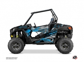 Polaris RZR 900 S UTV Evil Graphic Kit Grey Blue