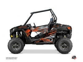 Polaris RZR 900 S UTV Evil Graphic Kit Grey Orange