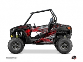 Polaris RZR 900 S UTV Evil Graphic Kit Grey Red