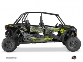 Polaris RZR 1000 Turbo 4 doors UTV Evil Graphic Kit Grey Green