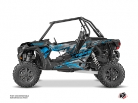 Polaris RZR 1000 Turbo UTV Evil Graphic Kit Grey Blue