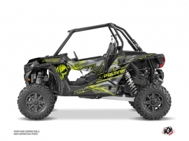 Polaris RZR 1000 Turbo UTV Evil Graphic Kit Grey Green