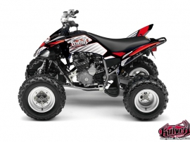 Yamaha 250 Raptor ATV Factory Graphic Kit Red