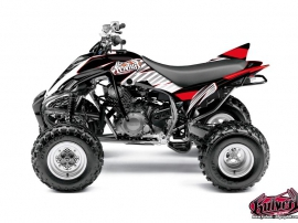 Yamaha 350 Raptor ATV Factory Graphic Kit Red
