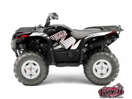 Yamaha 550-700 Grizzly ATV Factory Graphic Kit Red