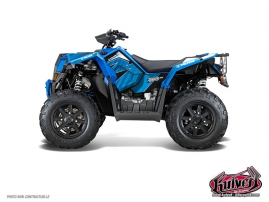 Polaris Scrambler 850-1000 XP ATV Factory Graphic Kit Blue FULL