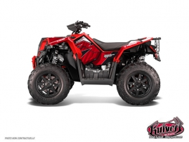 Polaris Scrambler 850-1000 XP ATV Factory Graphic Kit Red FULL