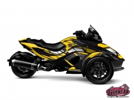 Can Am Spyder RS Roadster Factory Graphic Kit Yellow