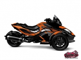 Can Am Spyder RS Roadster Factory Graphic Kit Orange