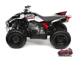Yamaha 350-450 Wolverine ATV Factory Graphic Kit Red