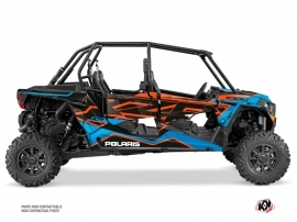 Kit Déco SSV Faster Polaris RZR 1000 4 portes Orange Bleu
