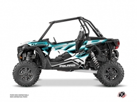 Polaris RZR 1000 Turbo UTV Faster Graphic Kit White Blue