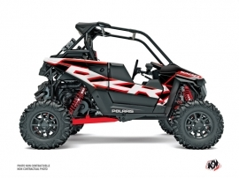 Polaris RZR RS1 UTV Faster Graphic Kit White Red