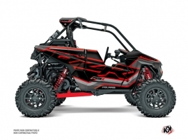 Polaris RZR RS1 UTV Faster Graphic Kit Black Red FULL