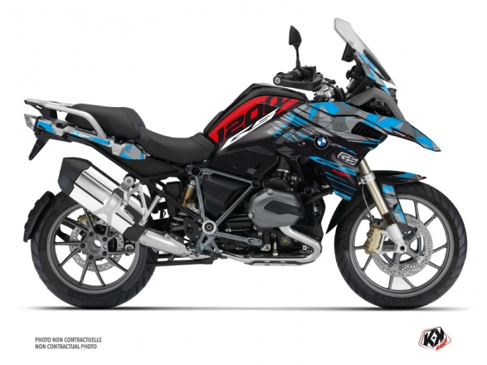 kit graphique moto akte bmw r 1200 gs exclusive bleu rouge. Black Bedroom Furniture Sets. Home Design Ideas