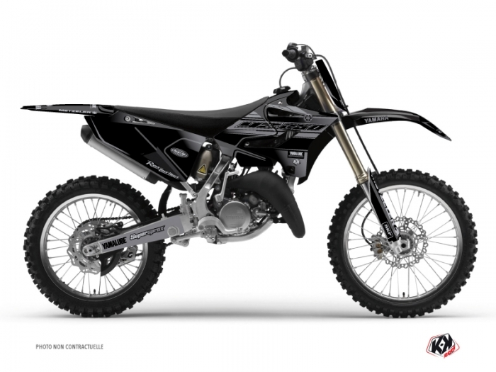 Yamaha 250 Yz Dirt Bike Black Matte Graphic Kit Black