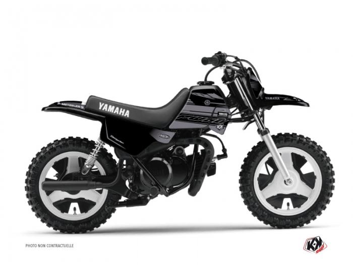 Yamaha PW 50 Dirt Bike Black Matte Graphic Kit Black - Kutvek Kit ...