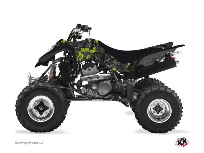 Kawasaki 400 KFX ATV Camo Graphic Kit Black Green